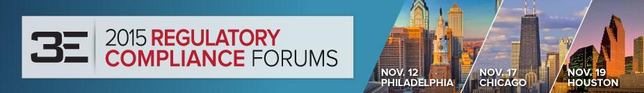 2015 3E Company Regulatory Compliance Forum - Philadelphia