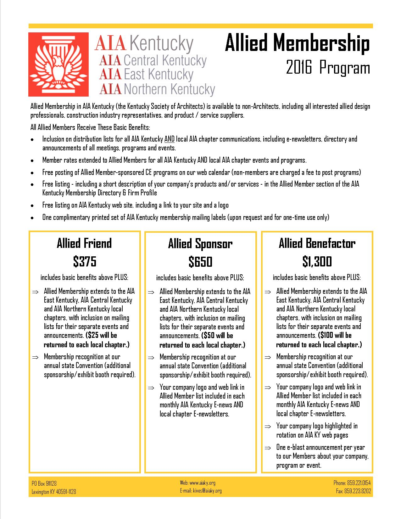 2016 Allied Membership Description