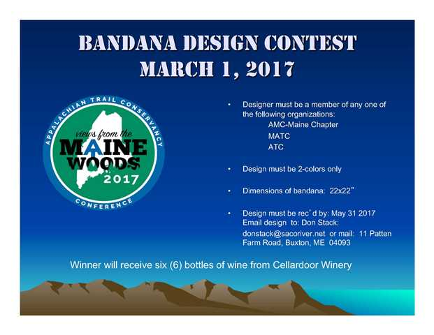Bandana Design Contest announcement