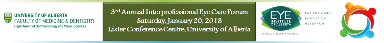2018 Interprofessional Eye Care Forum Banner