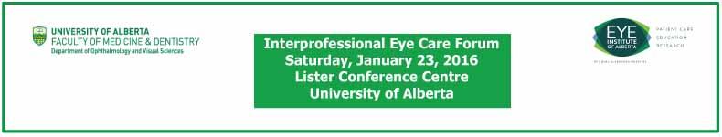 Interprofessional Eye Care Forum 2016