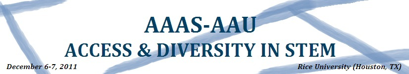 AAAS-AAU Access & Diversity Workshop - Phase II
