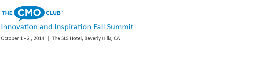 The CMO Club Fall Summit 2014