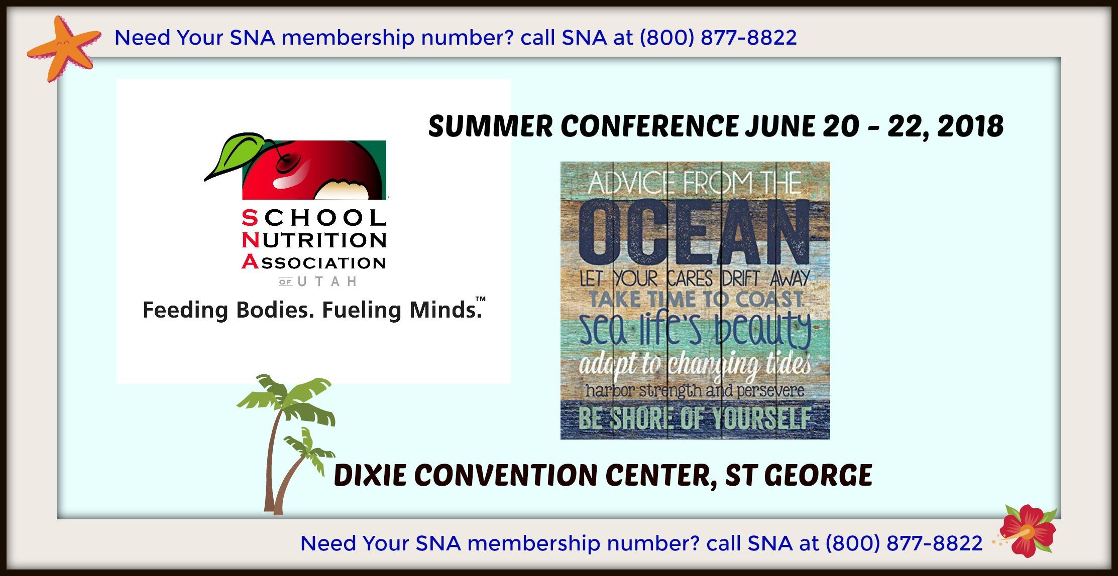 School Nutrition Association of Utah 2018 Summer Conference