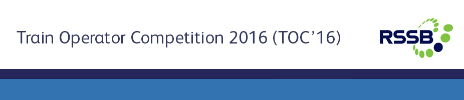 Train Operator Competition 2016 (TOC'16)