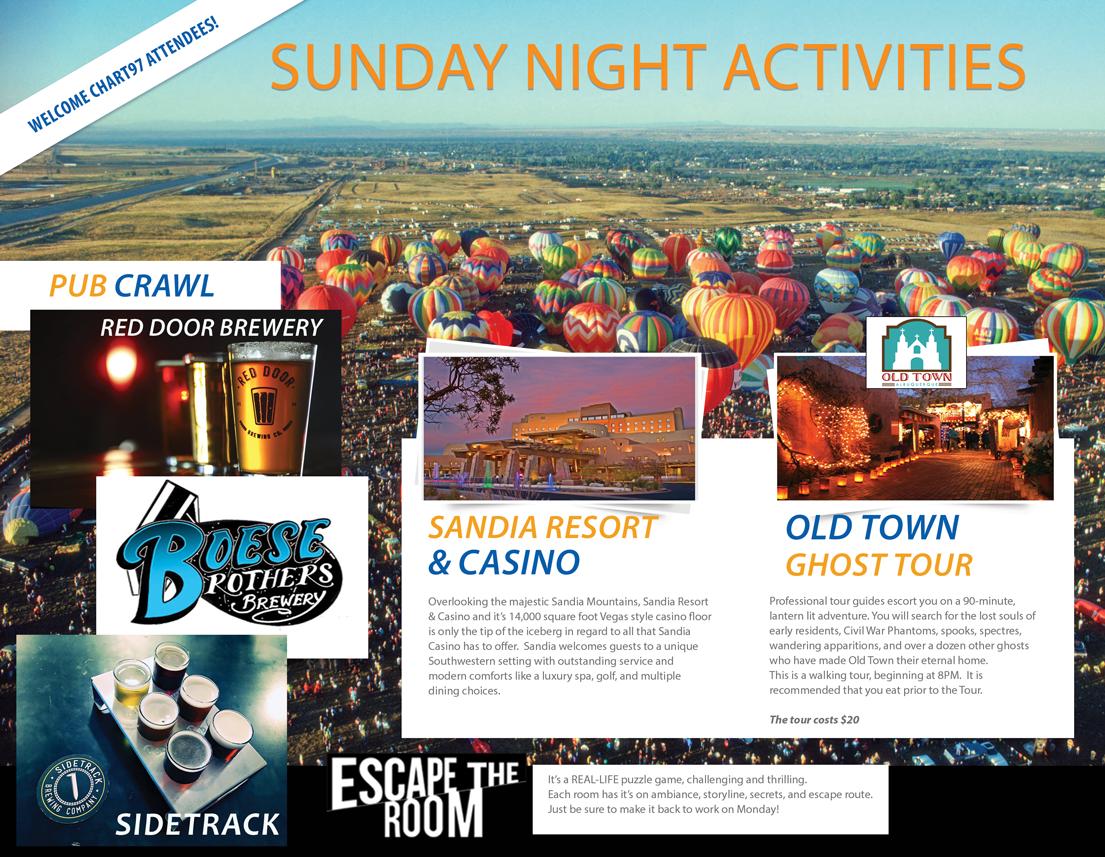 Sunday night activities-front