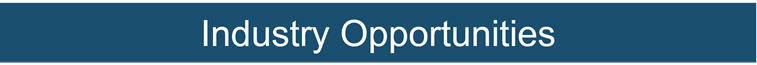 Industry Opportunities