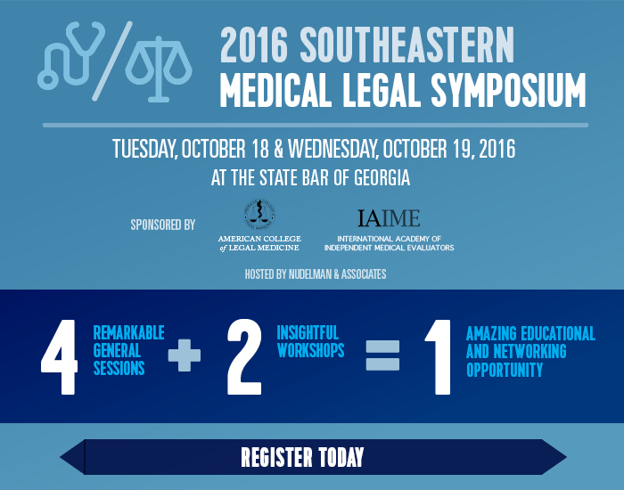 2016 SouthEastern Medical Legal Symposium