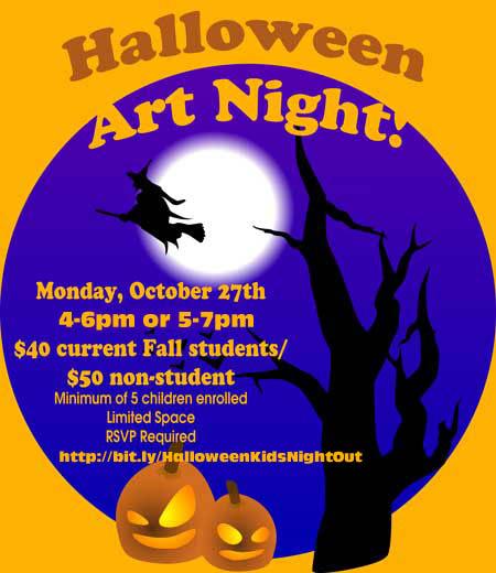 Yelllow Halloween-Art-Night-Image