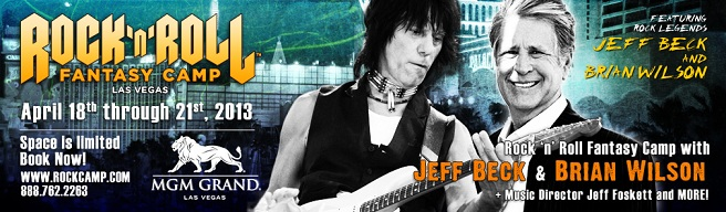 Jeff Beck/Brian Wilson Fantasy Camp in Las Vegas 2013