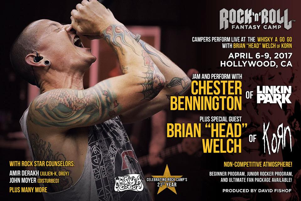 "Chester  Bennington  & Brian ""Head"" Welch April 6 - 9, 2017"