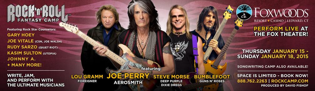 Rock n Roll Fantasy Camp - Joe Perry 2015