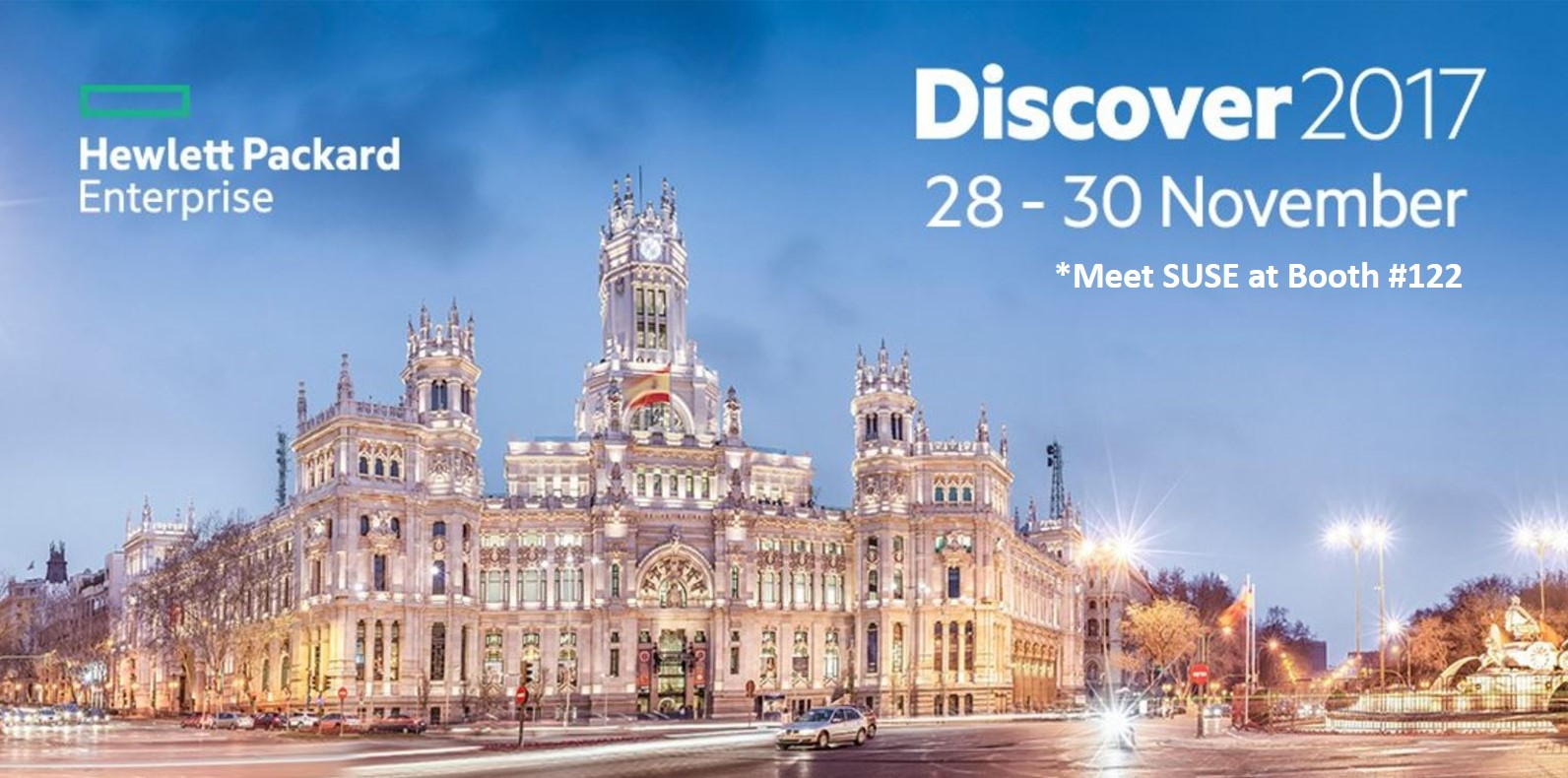 SUSE at HPE Discover Madrid 2017- Booth #122