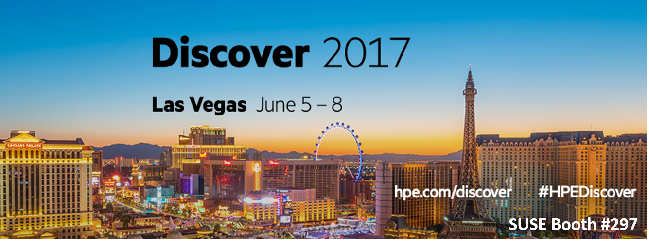 SUSE at HPE Discover Las Vegas 2017- Booth #297