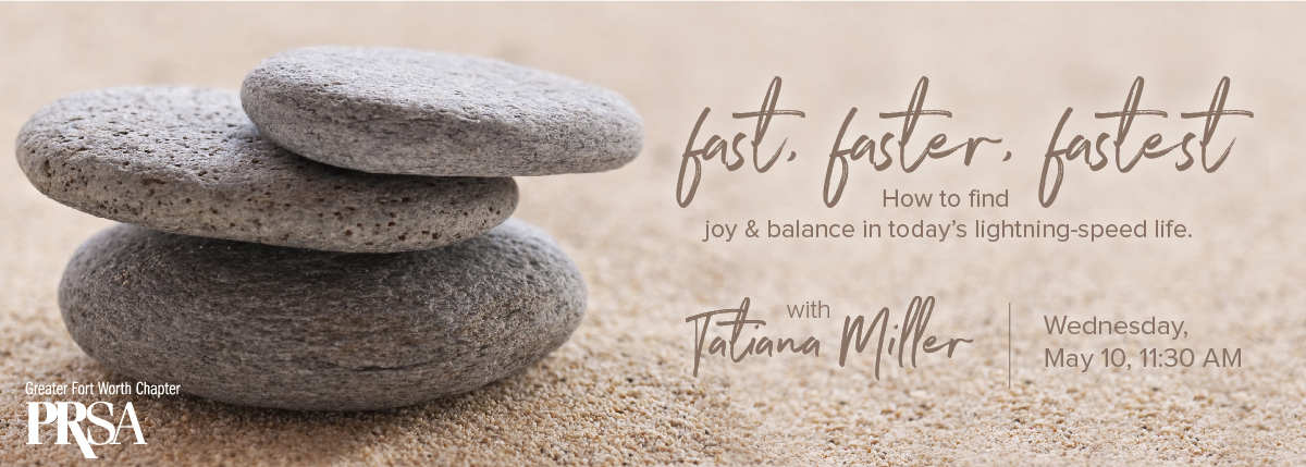 Fast, faster, fastest – how to find joy and balance in today's lightning-speed life