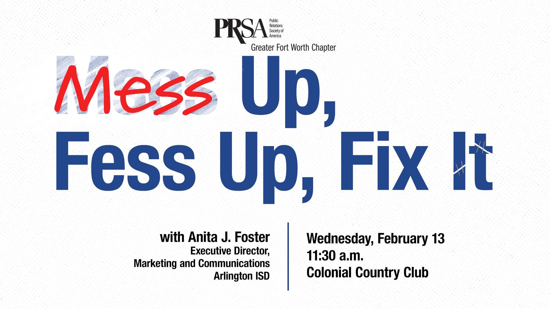 Mess Up, Fess Up, Fix It