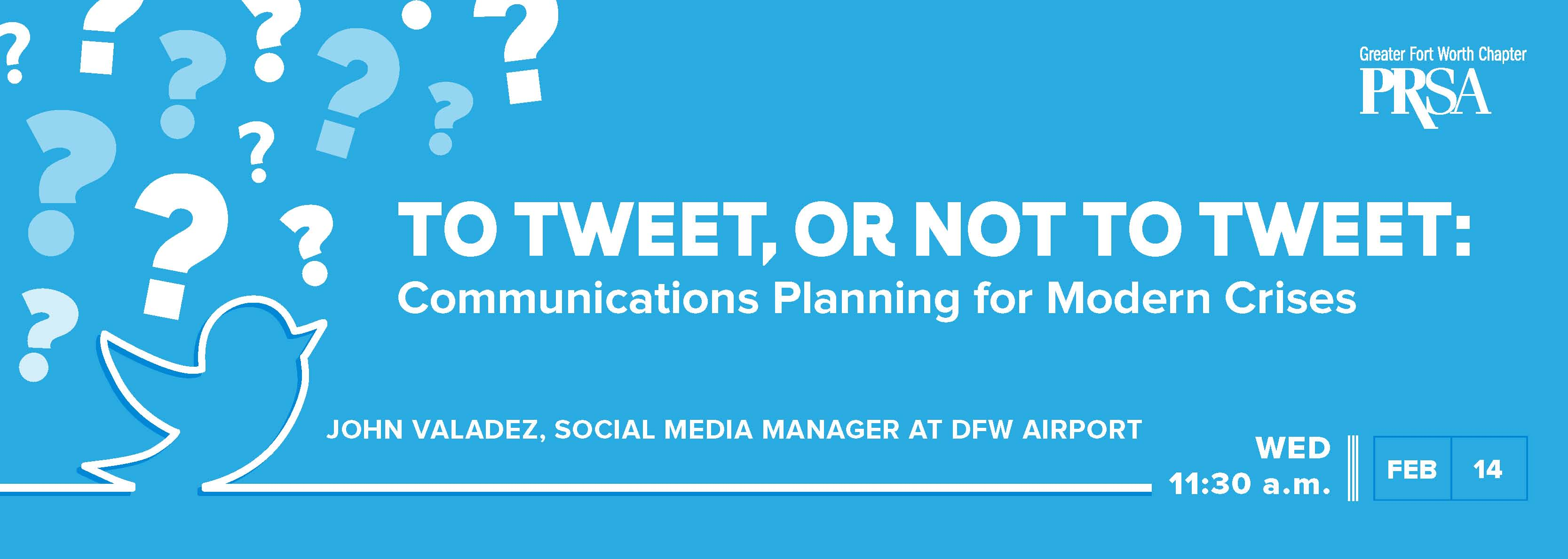 To Tweet, or Not to Tweet: Communications Planning for Modern Crises