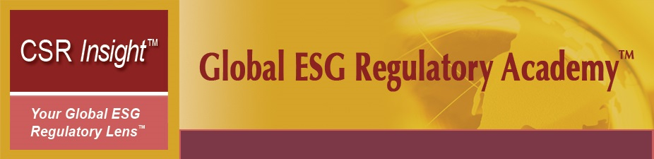 ESG Regulatory and Voluntary Reporting: Most Important Developments, Radar 2014, and Key Policy Issues (On Demand, 4 Speaker Presentations)
