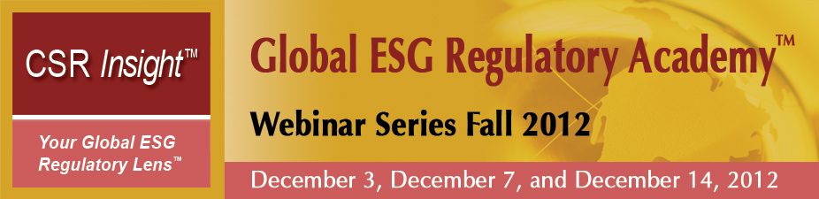 SEC ESG Compliance:Where the Rubber Meets the Road (On Demand, 3-Webinar Series, 3 Recordings + 6 Speaker Presentations)