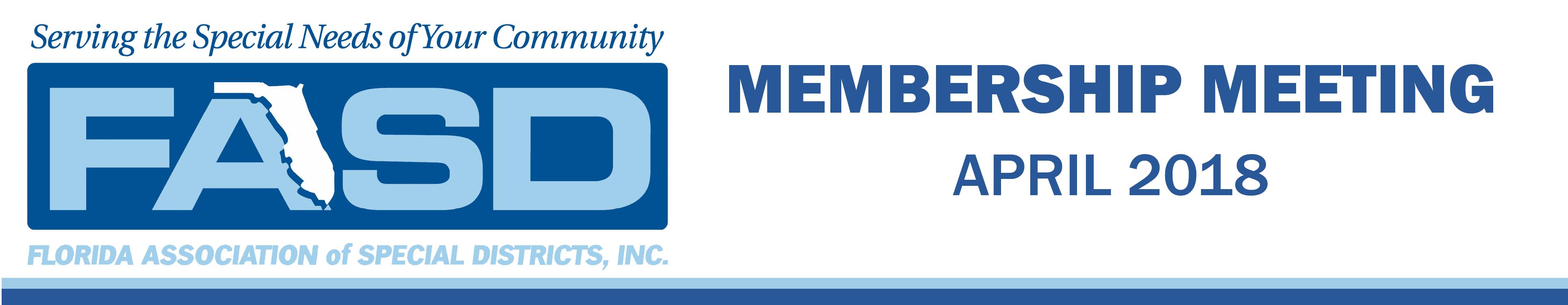 2018 FASD April Membership Meeting