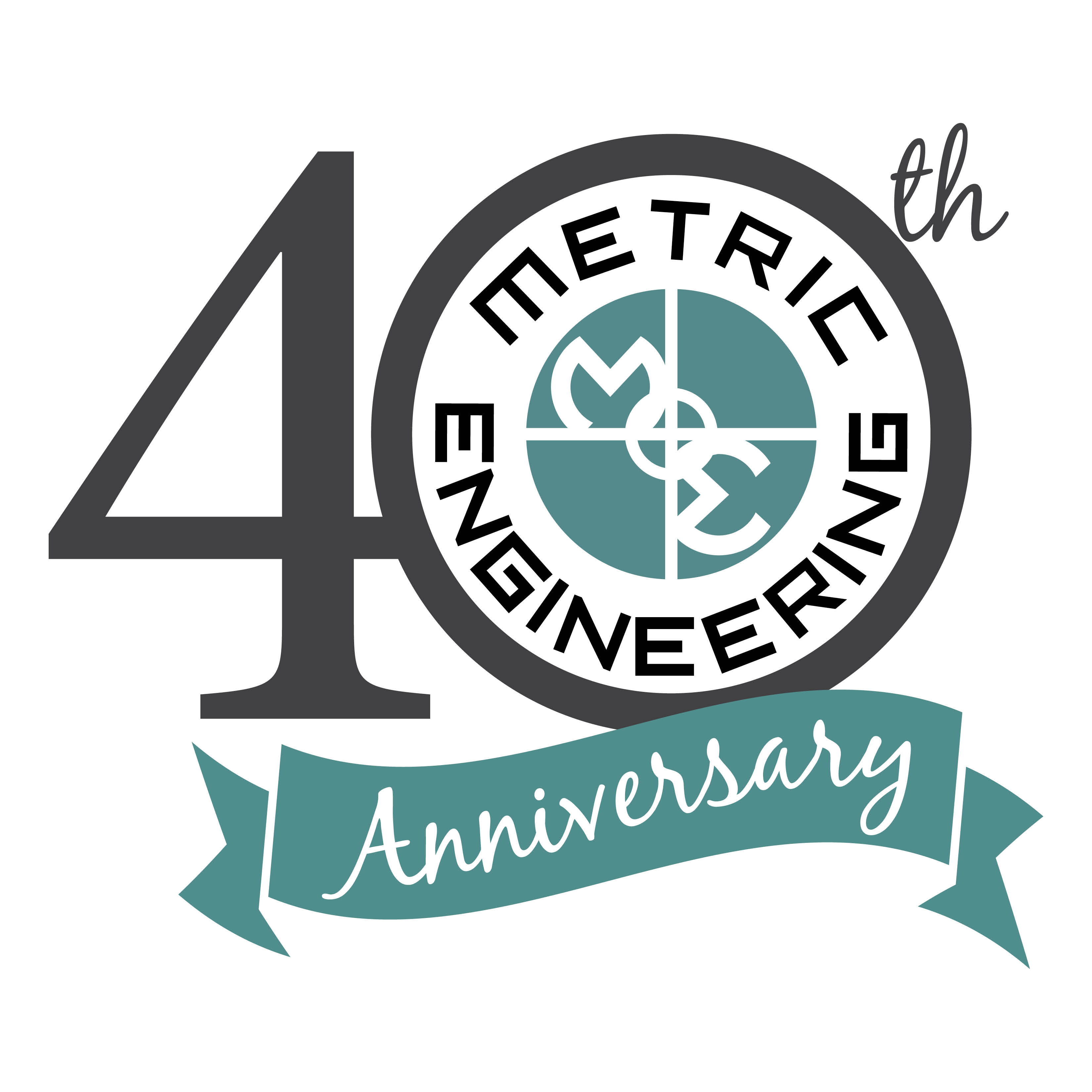 Metric Engineering - 40th Anniversary Logo (large)