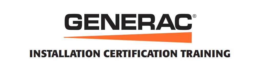 Generac Installation Certification Training - July 2018