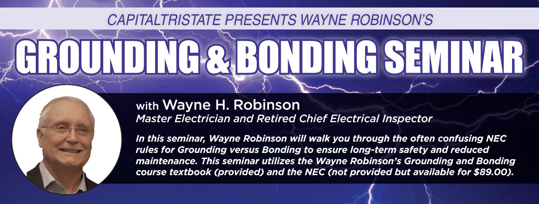 Grounding and Bonding Seminar - Apr 18 & 19 - Cumberland