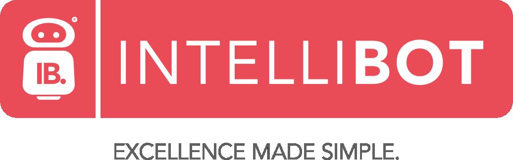 Intellibot horizontal logo red