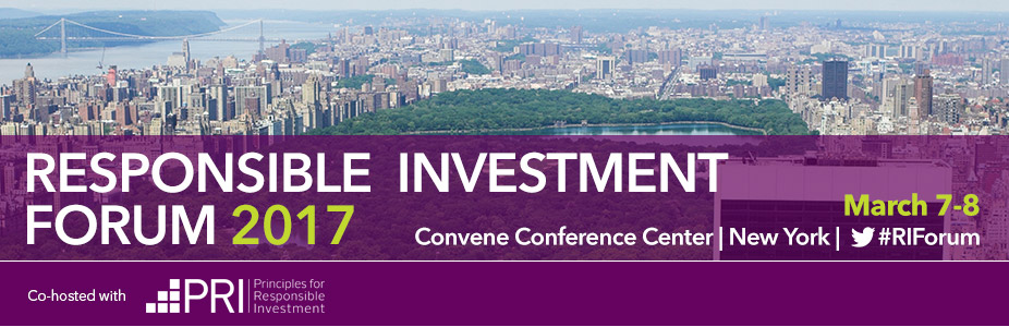 Responsible Investment Forum: New York 2017
