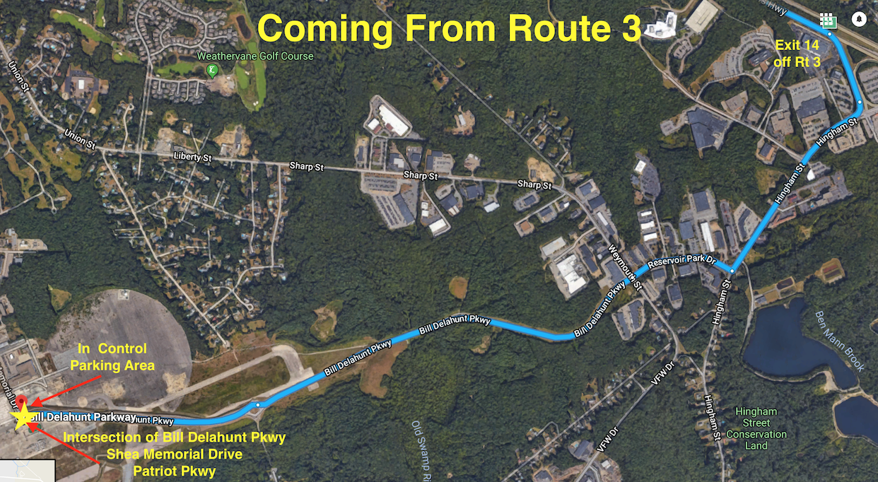 SW Directions Coming from Route 3