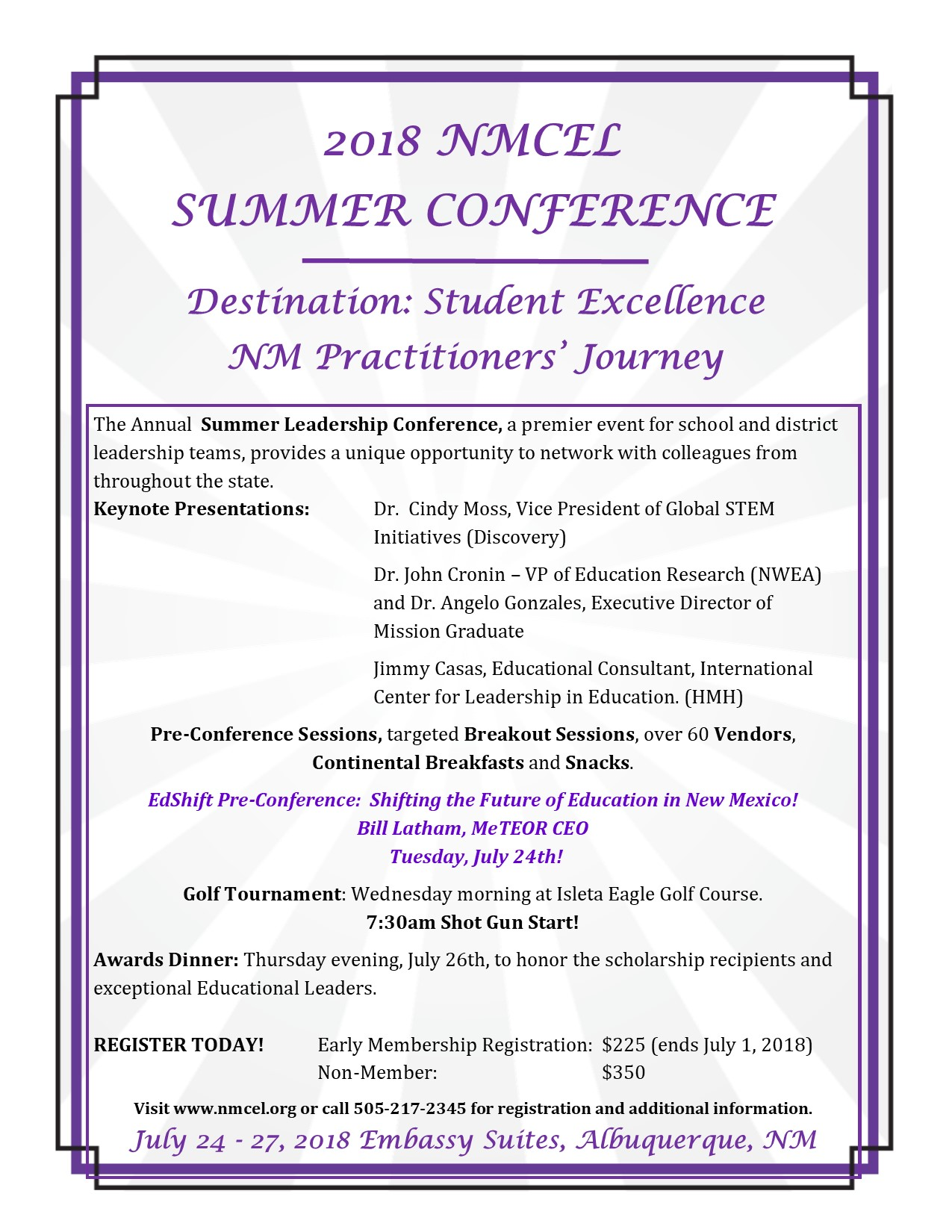 NMCEL 2018 Annual Summer Conference