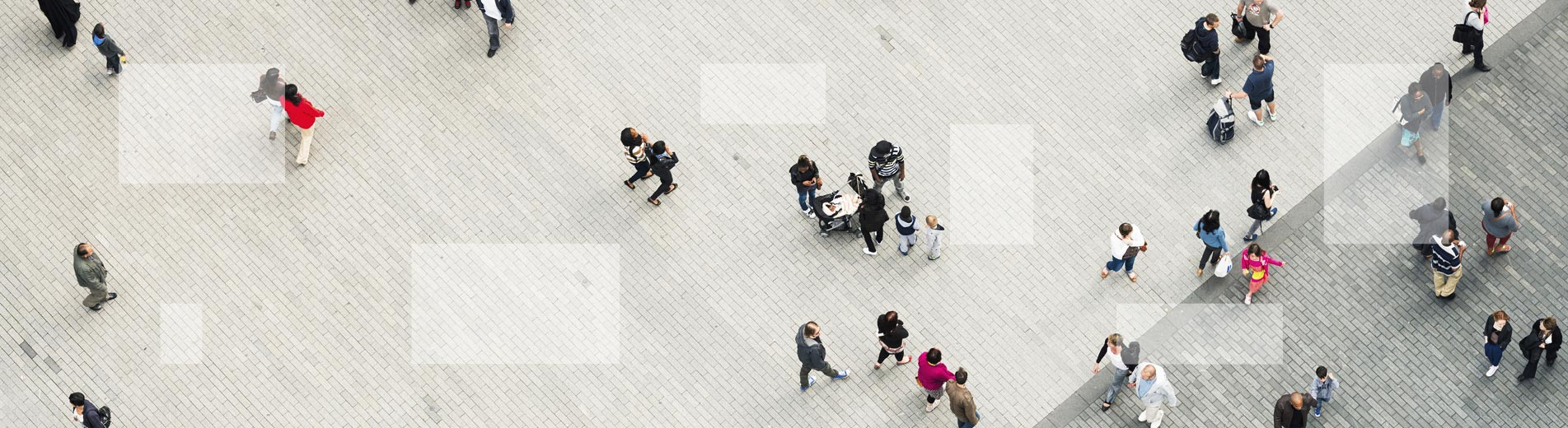 People walking around