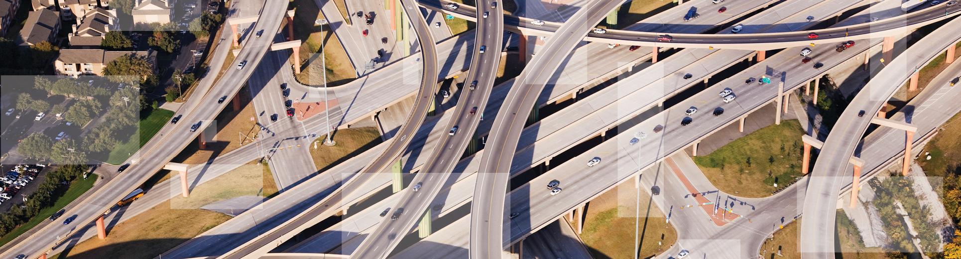 aerial highway view