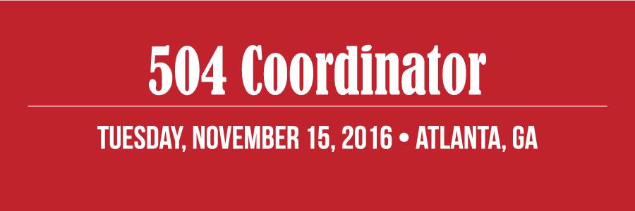 504 Coordinator: Atlanta, GA