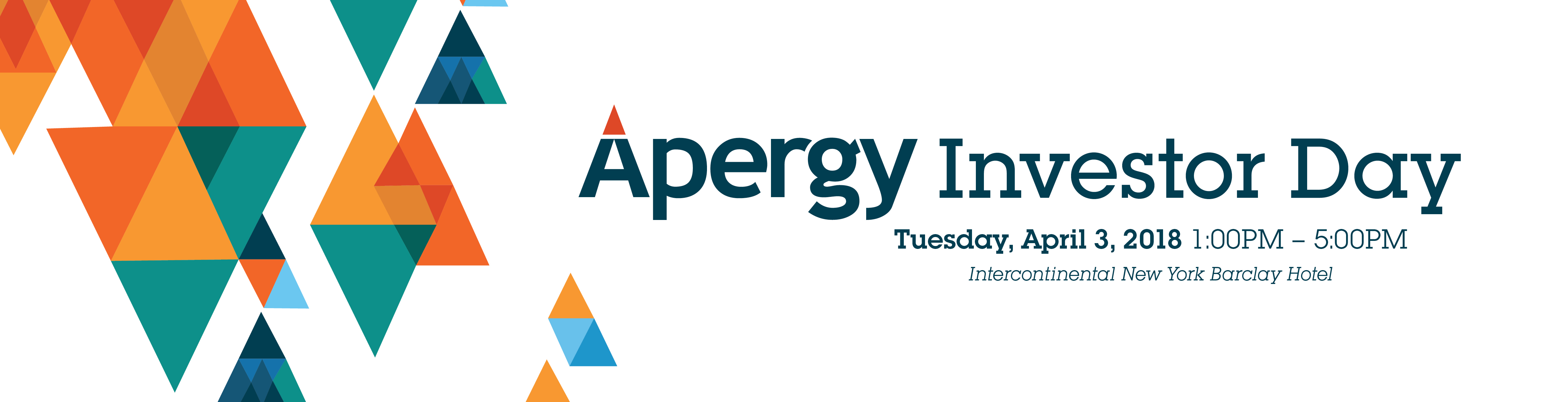 Apergy Investor Day- Save the Date
