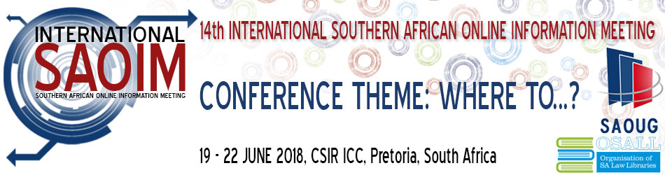 14th International SAOIM (Southern African Online Information Meeting)