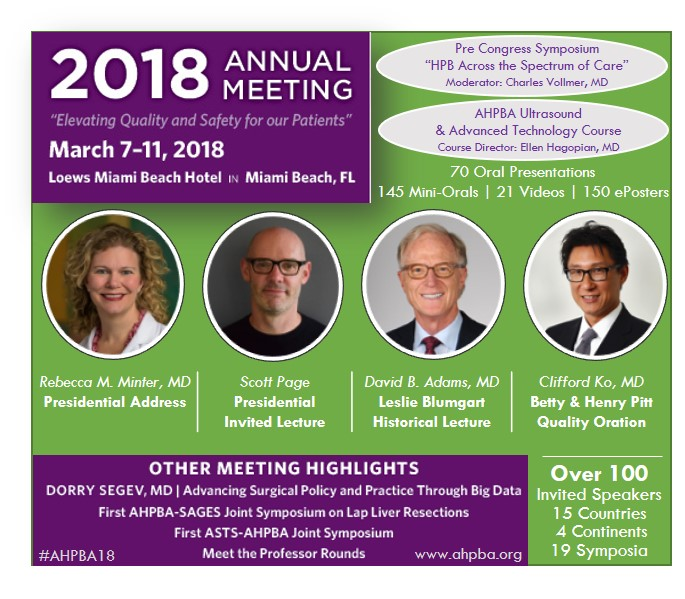 AHPBA 2018 Annual Meeting