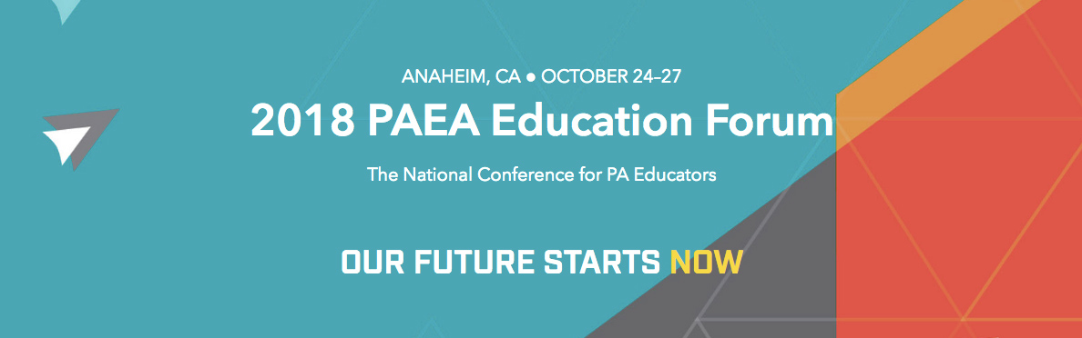 2018 PAEA Education Forum and Fall Workshops