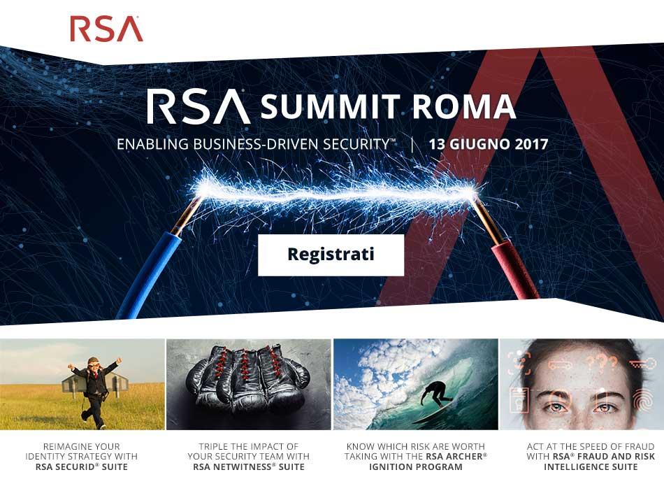 RSA Summit 2016 Roma