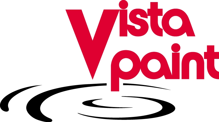 vista logo red and black STACKED