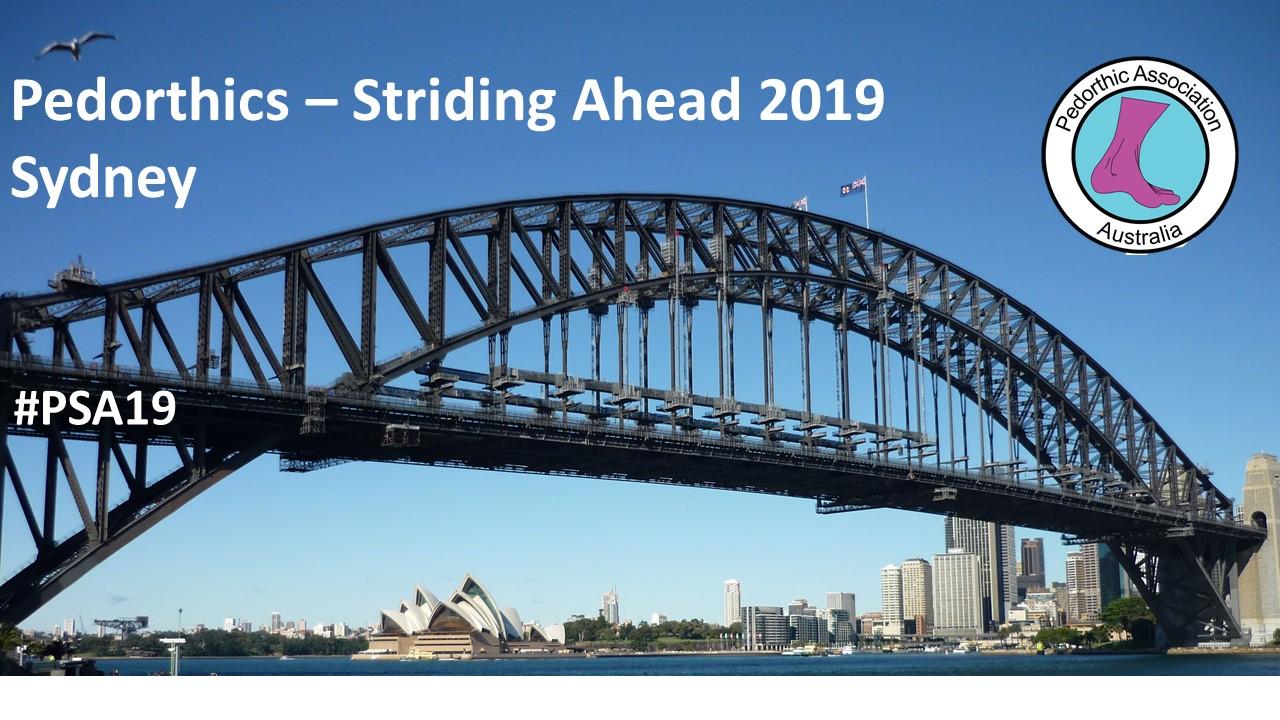 Pedorthics - Striding Ahead 2019