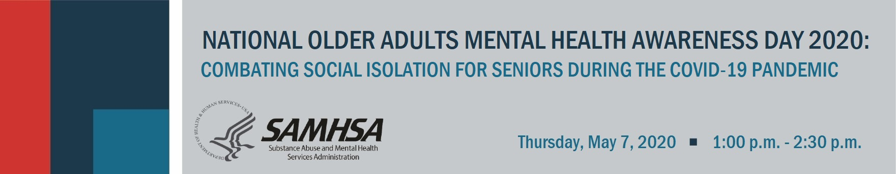 National Older Adults Mental Health Awareness Day 2020: Combating Social Isolation for Seniors during the COVID-19 Pandemic