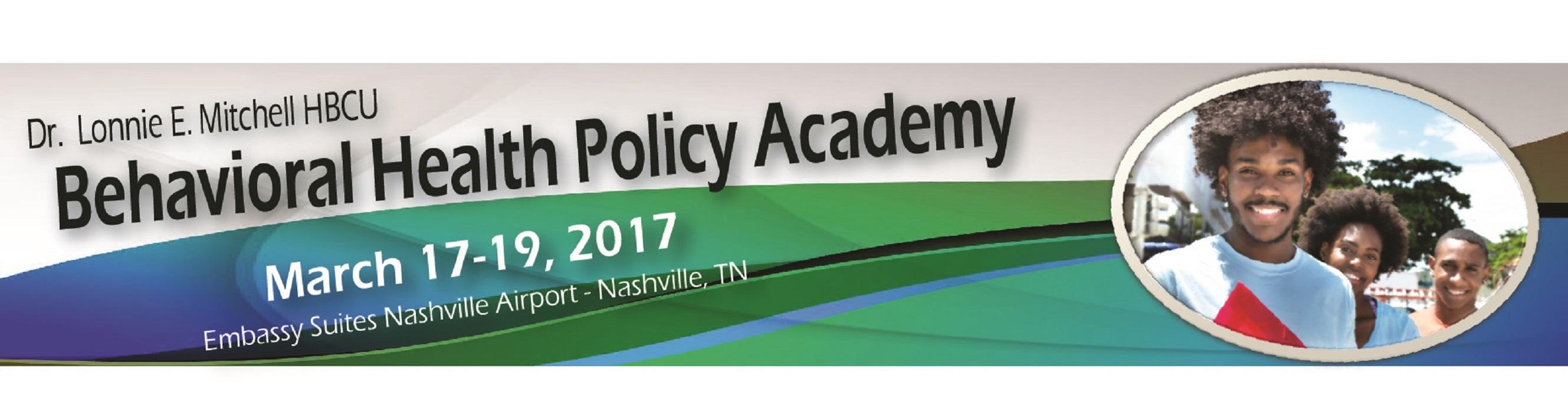 Dr. Lonnie E. Mitchell HBCU Behavioral Health Policy Academy