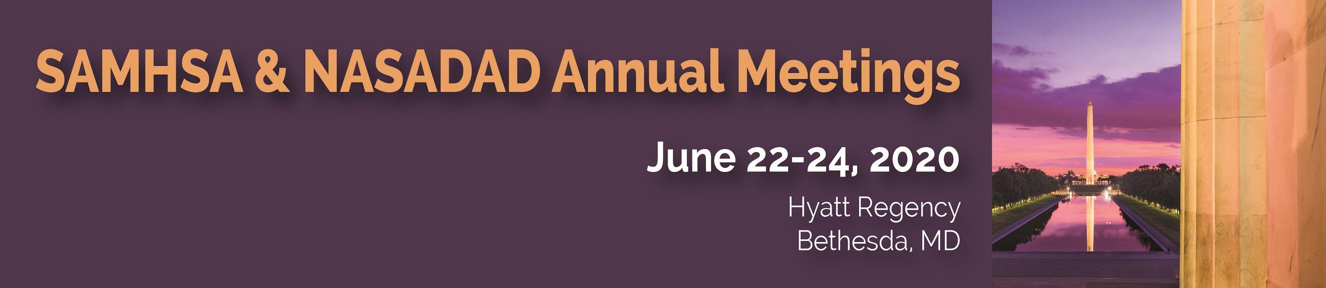 SAMHSA and NASADAD Annual Meetings - Public
