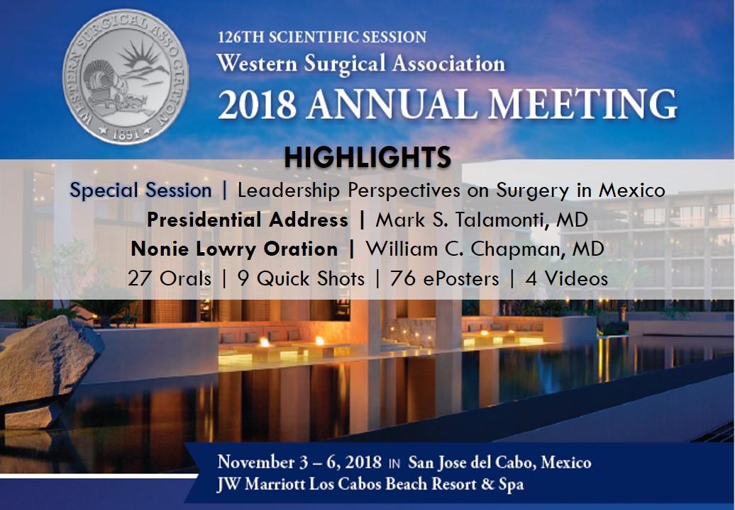 WSA 2018 Annual Meeting