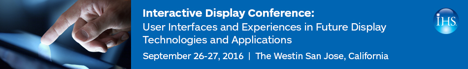 Interactive Display Conference 2016