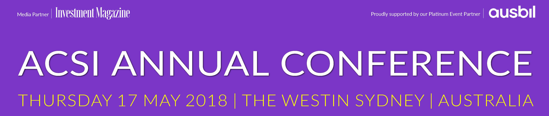 2018 ACSI Annual Conference