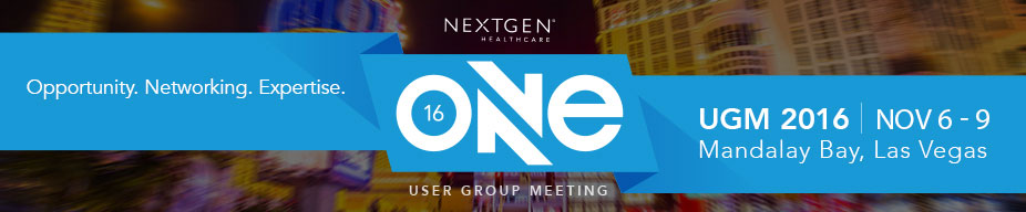 ONE User Group Meeting - Staff 2016