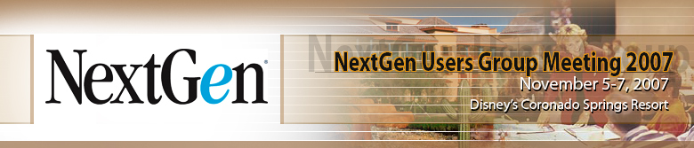 NextGen Users Group Meeting 2007