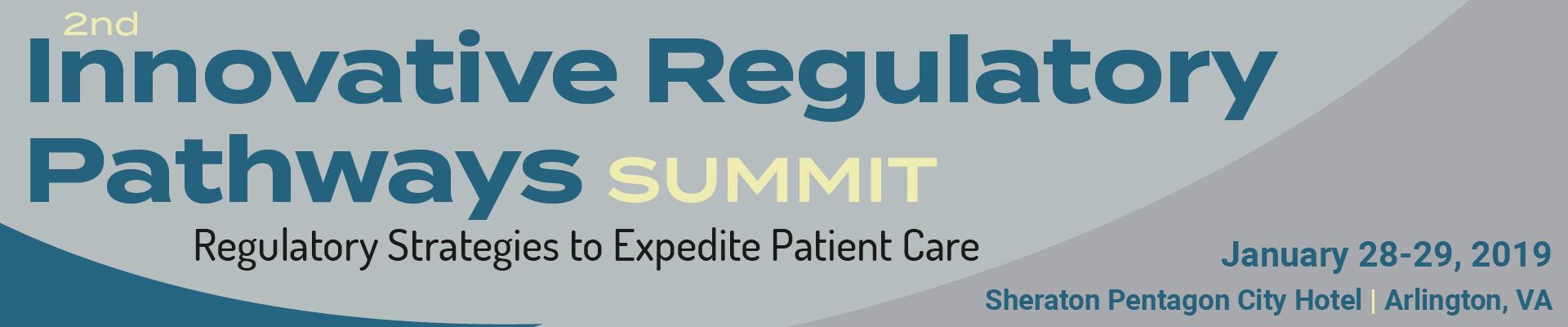 2nd Innovative Regulatory Pathways Summit